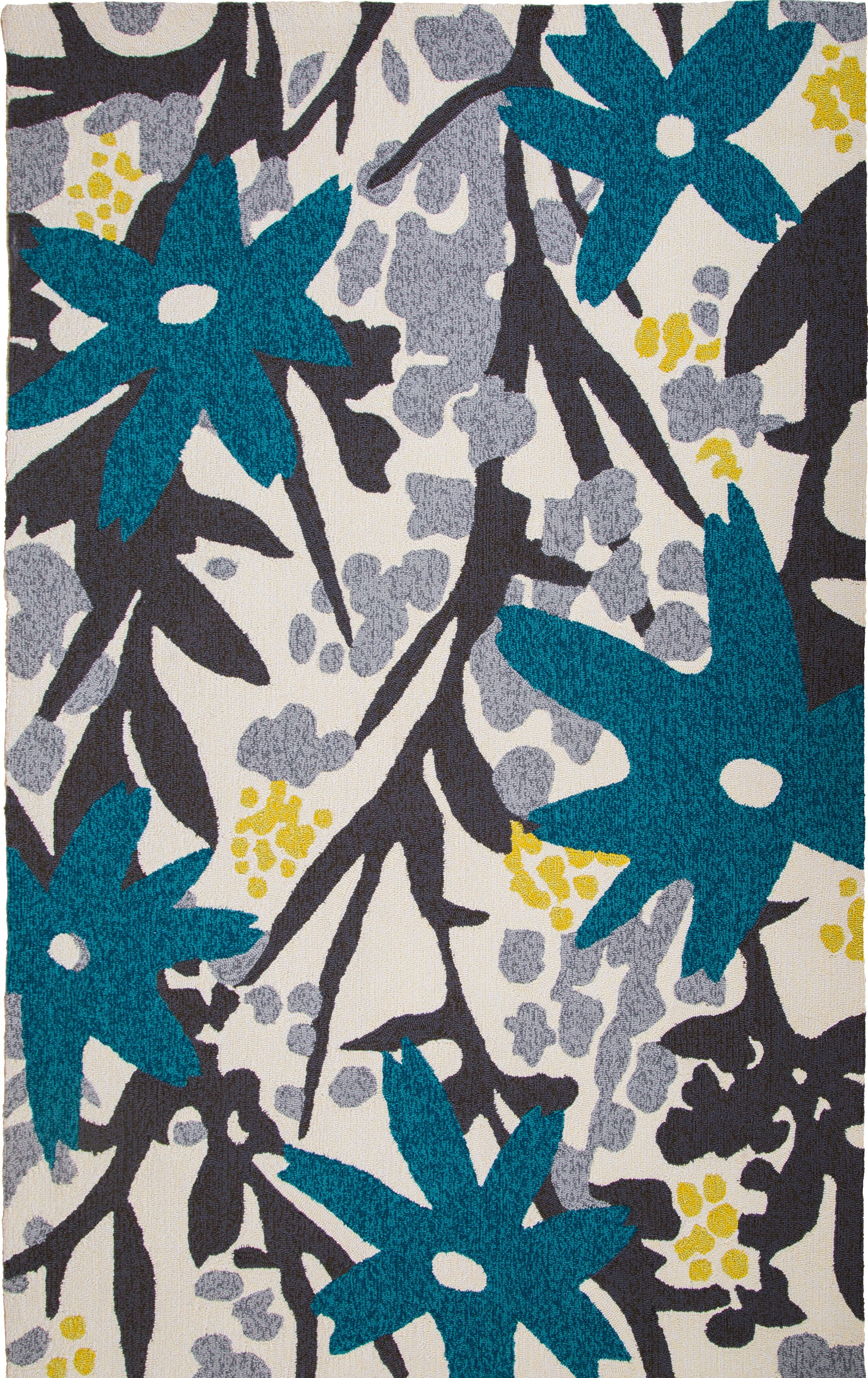 Bloom Hand-Tufted Turquoise Indoor/Outdoor Area Rug Rug Size: 5' x 8'