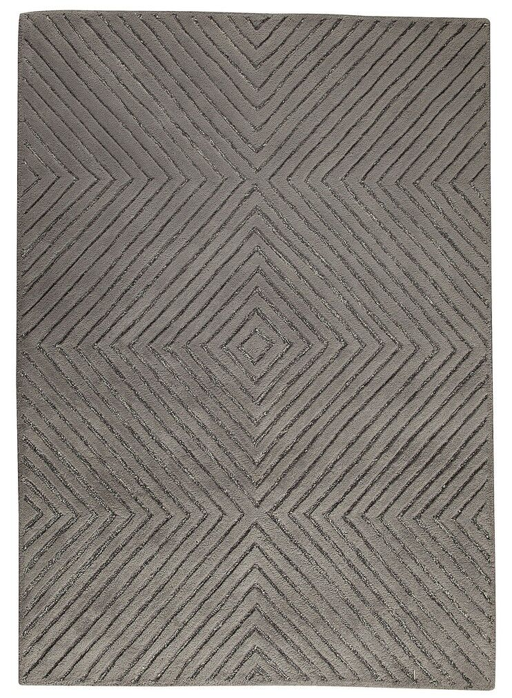 Union Hand-Tufted Gray Area Rug Rug Size: 5' x 7'