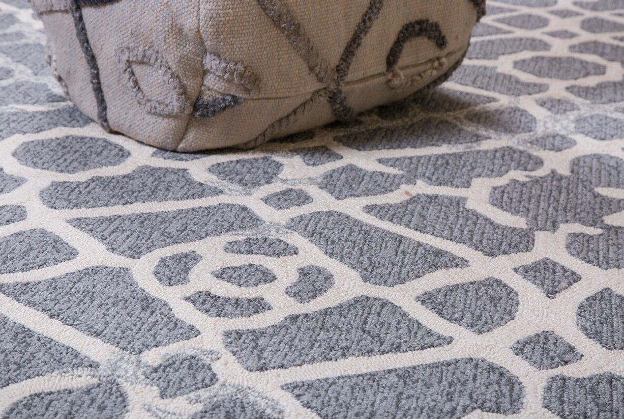Heritage Hand-Tufted Gray Indoor/Outdoor Area Rug Rug Size: 9' x 12'