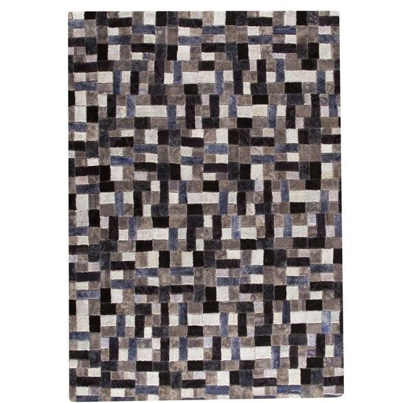 Puzzle Hand-Tufted Gray Area Rug Rug Size: 7'10