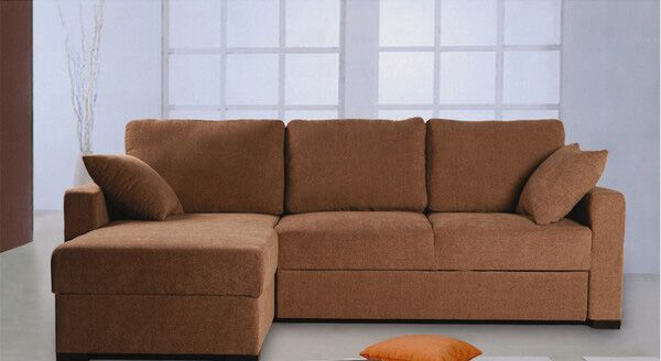 Incognito Sleeper Sectional Upholstery: Cocoa, Orientation: Right Hand Facing