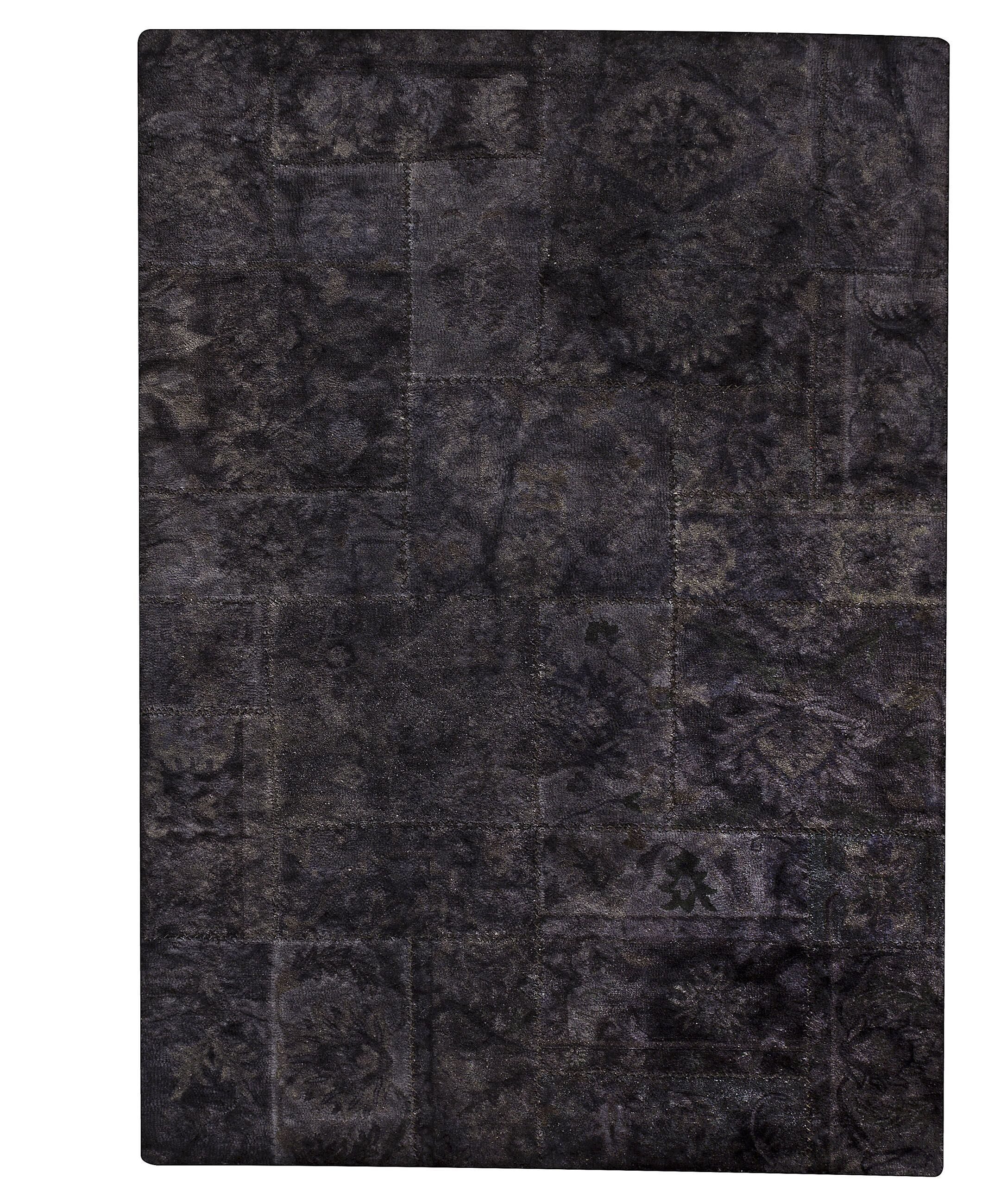 Sarangi Hand-Tufted Wool Black Area Rug Rug Size: Rectangle5'2