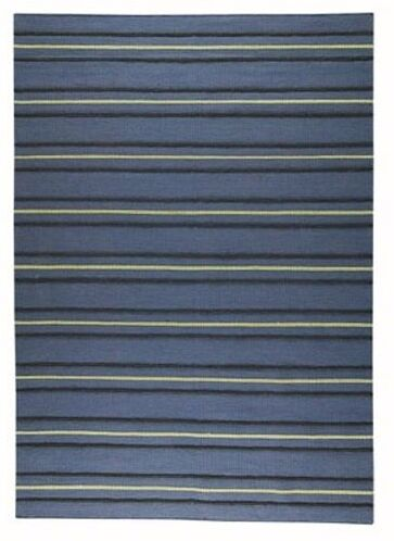 Huntress Striped Blue Area Rug Rug Size: Rectangle 4'6