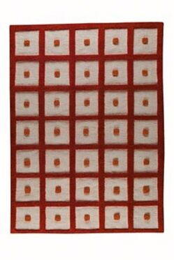 Winona Orange Frame Area Rug Rug Size: 4'6