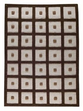 Brown Frame Area Rug Rug Size: 6'6