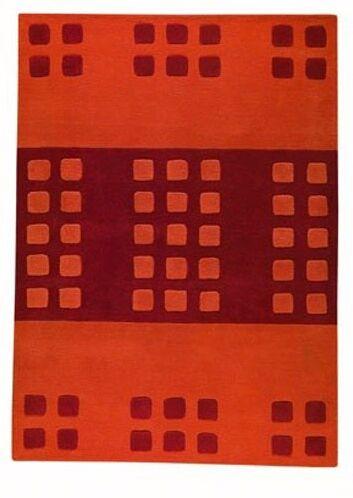 Winona Orange Area Rug Rug Size: 4'6