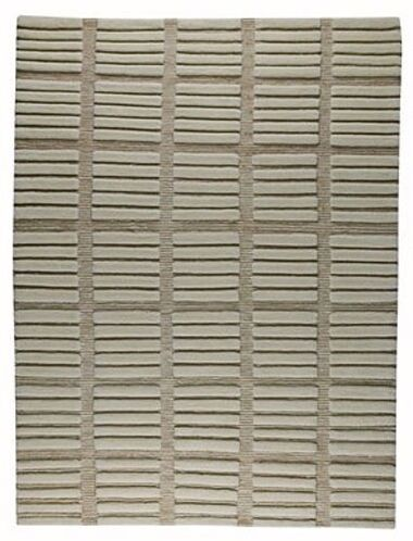 Winona White/Grey Area Rug Rug Size: 4'6