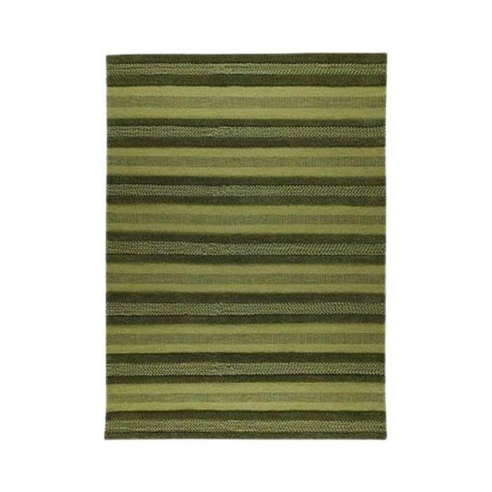 Grenada Green Striped Area Rug Rug Size: 4'6