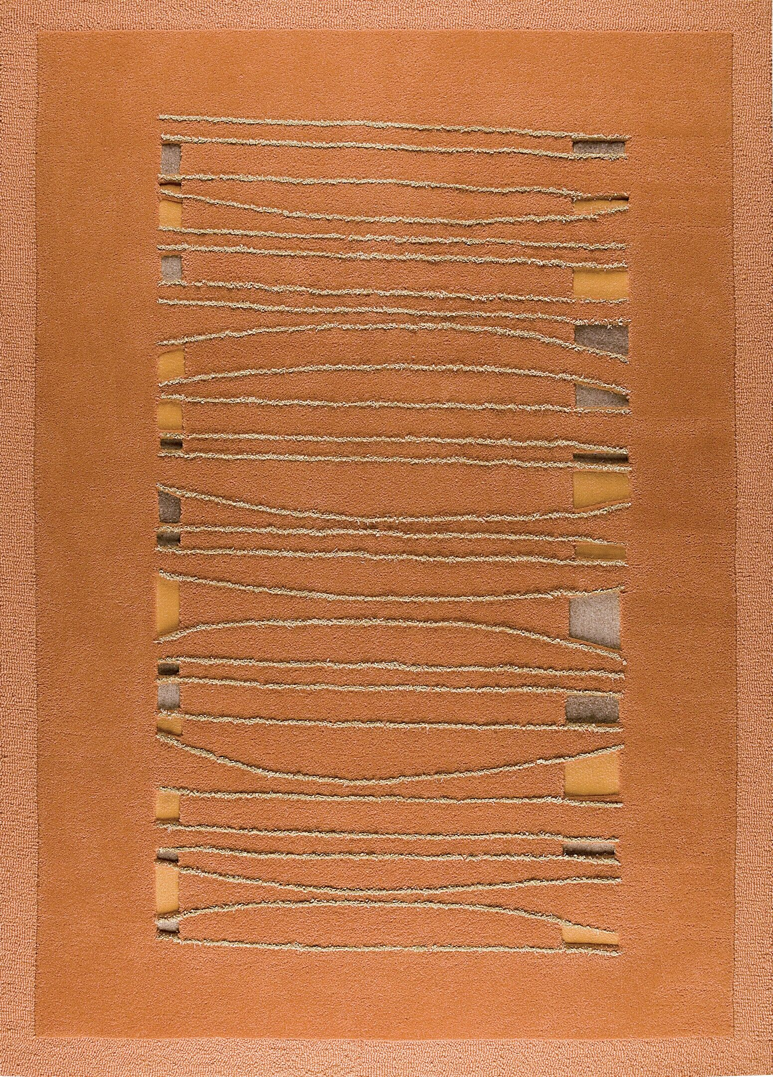 Ambrose Hand Tufted Orange Area Rug Rug Size: 8'3