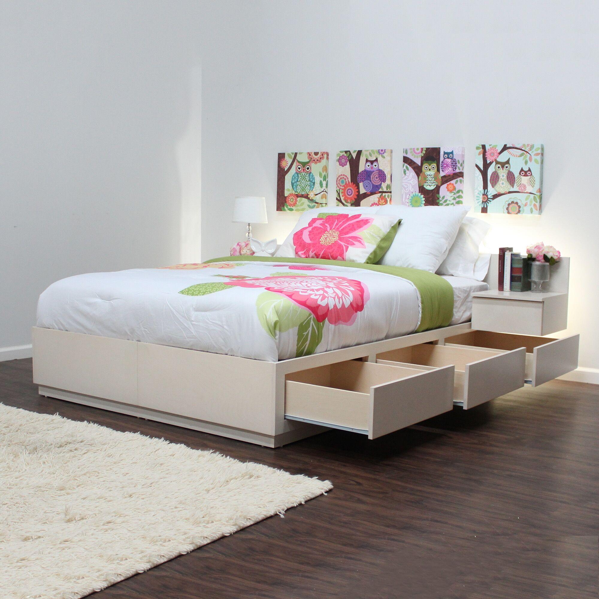 Captains Storage Platform Bed Color: Unfinished, Size: Queen