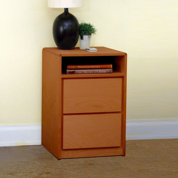 Art Deco 2 Drawer Nightstand Color: Colonial Maple