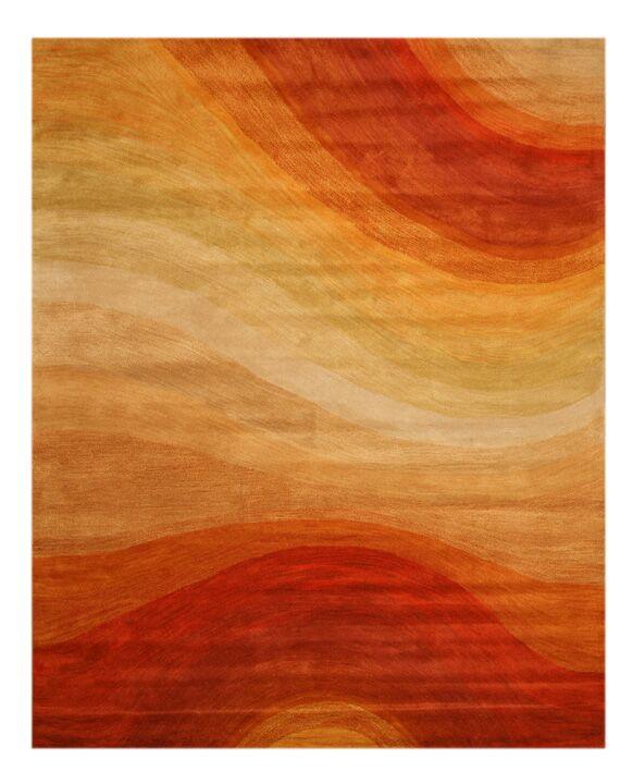 Desert Hand-Tufted Wool Orange Area Rug Rug Size: Rectangle 11'9