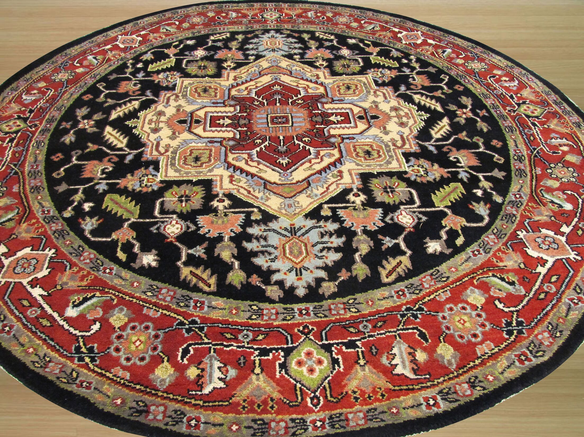 Careen Hand-Knotted Navy Area Rug