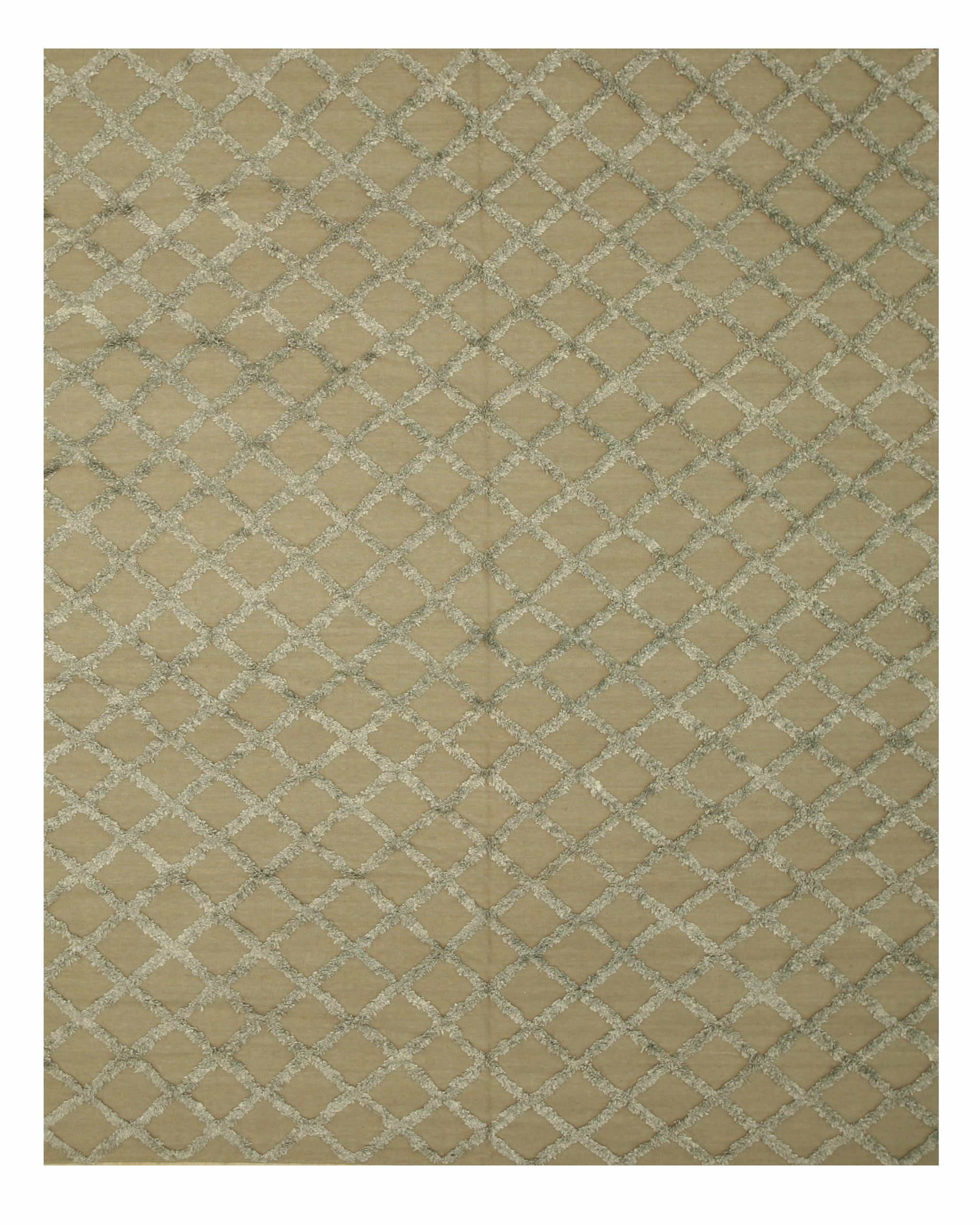 Marakesh Hand-Woven Silver Area Rug Rug Size: 10' x 14'