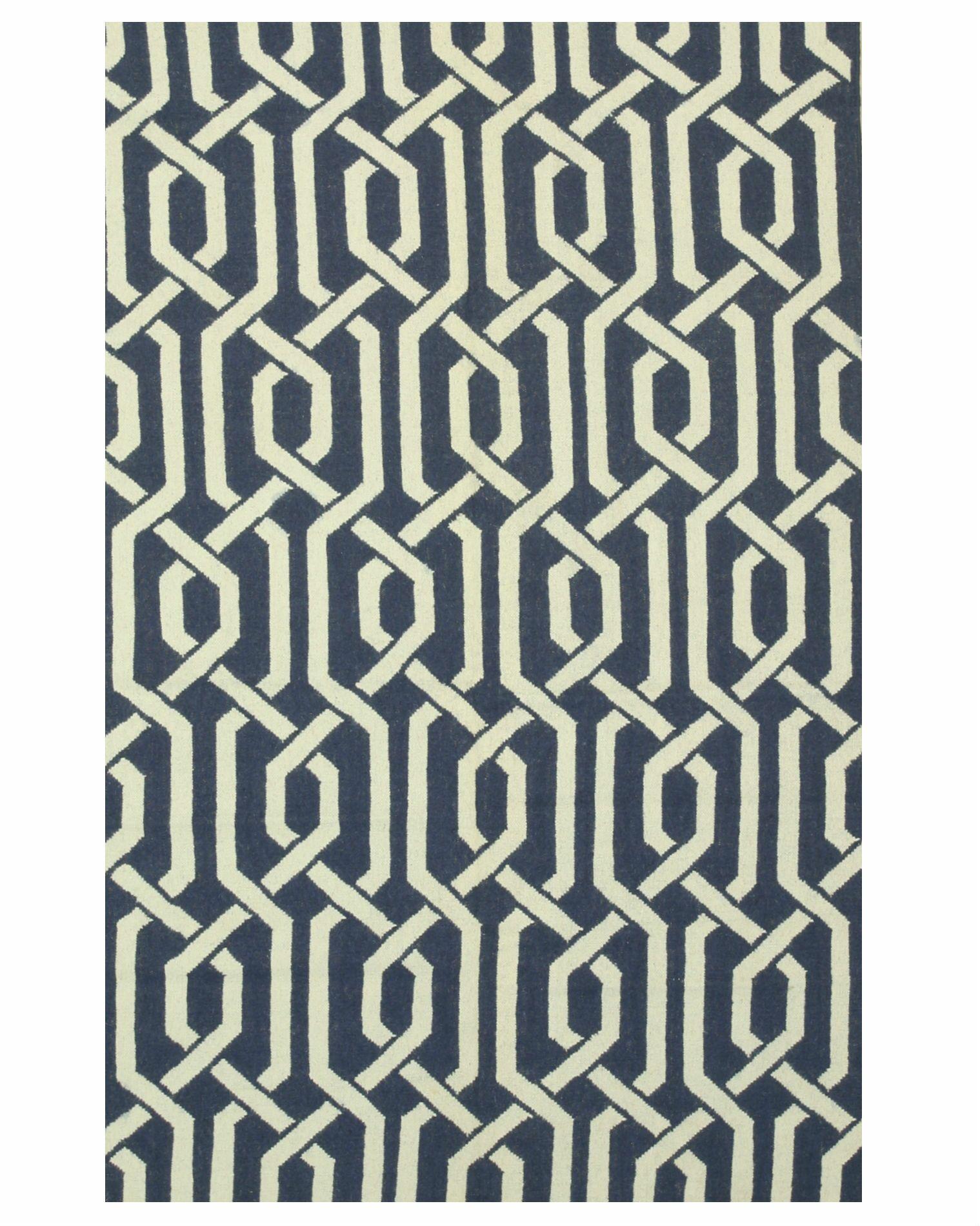 Innes Handmade Blue Area Rug Rug Size: 8' x 10'