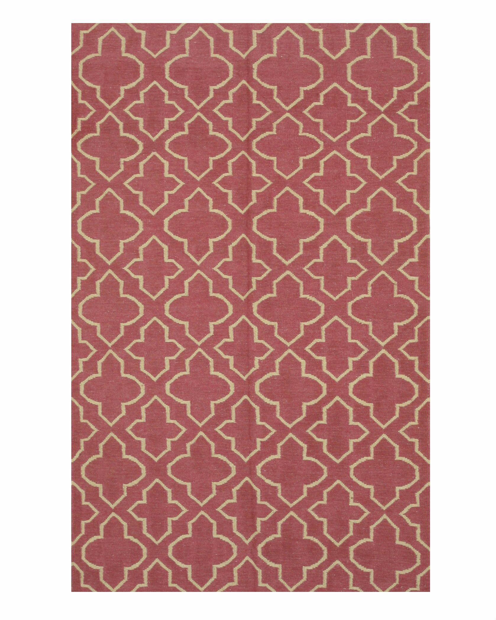 Durrant Handmade Pink Area Rug Rug Size: 9' x 12'