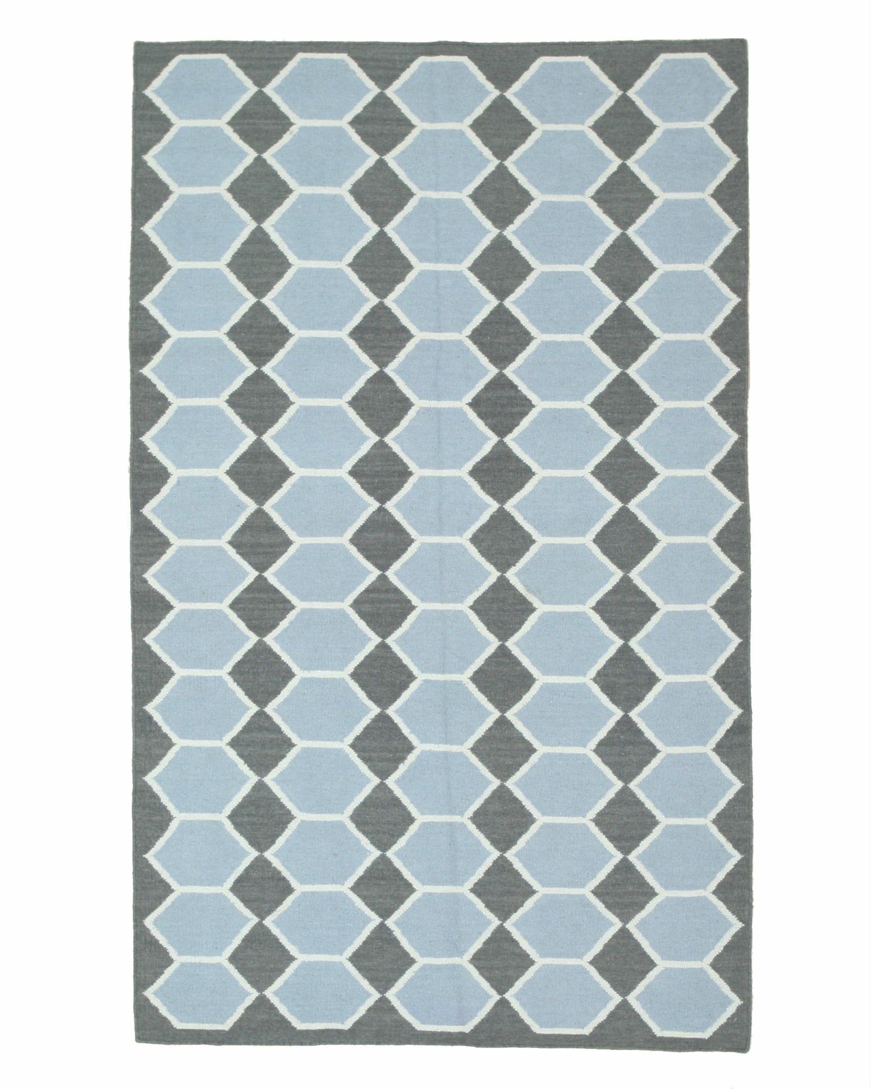Hanson Handmade Blue Area Rug Rug Size: 10' x 14'