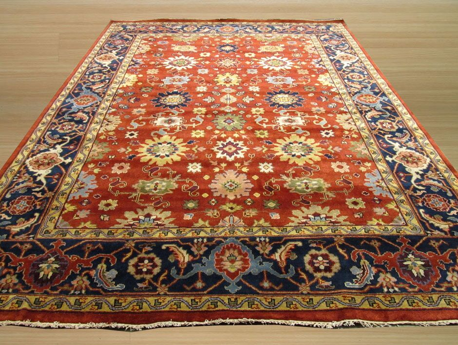 Super Mahal Hand-Knotted Red Area Rug Rug Size: Runner 2'6