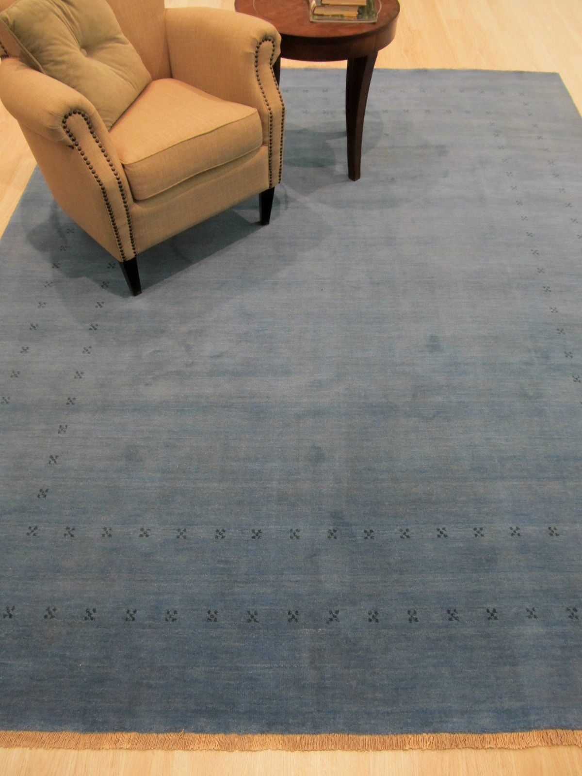 Dreher Hand-Knotted Wool Blue Area Rug Rug Size: 8' x 10'