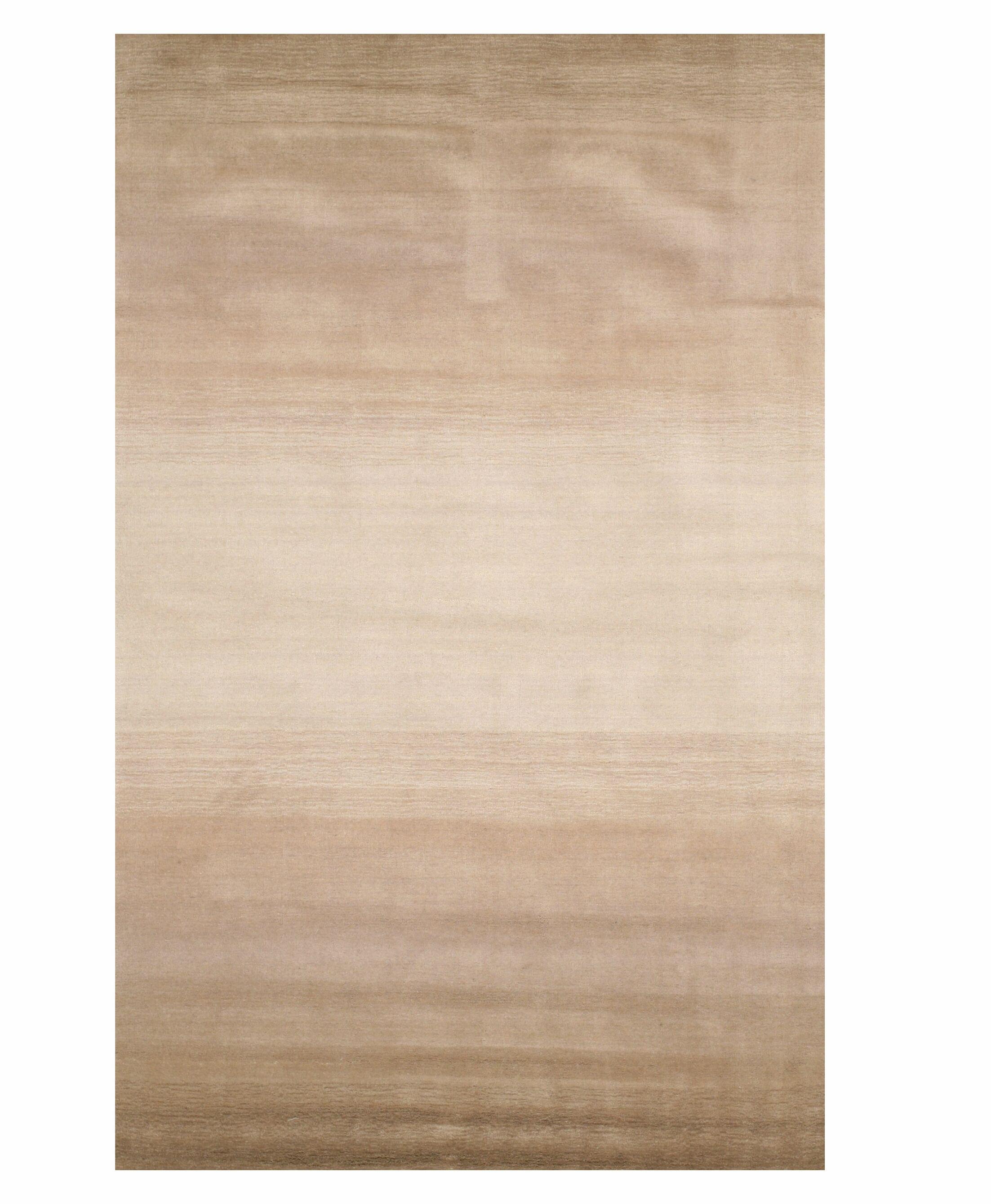 Johnny Horizon Handmade Beige Area Rug Rug Size: 8'9 x 11'9