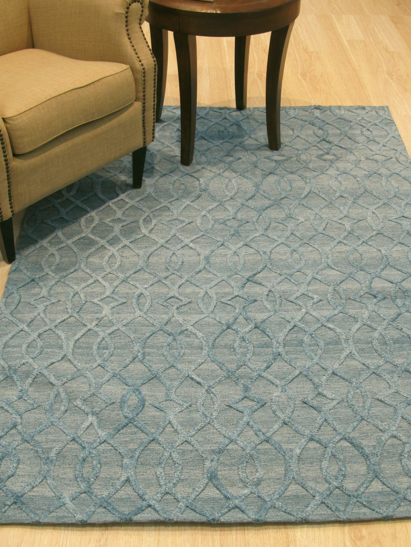 Oscar Traditional Hand-Woven Wool Gray/Blue Area Rug Rug Size: 10' x 14'