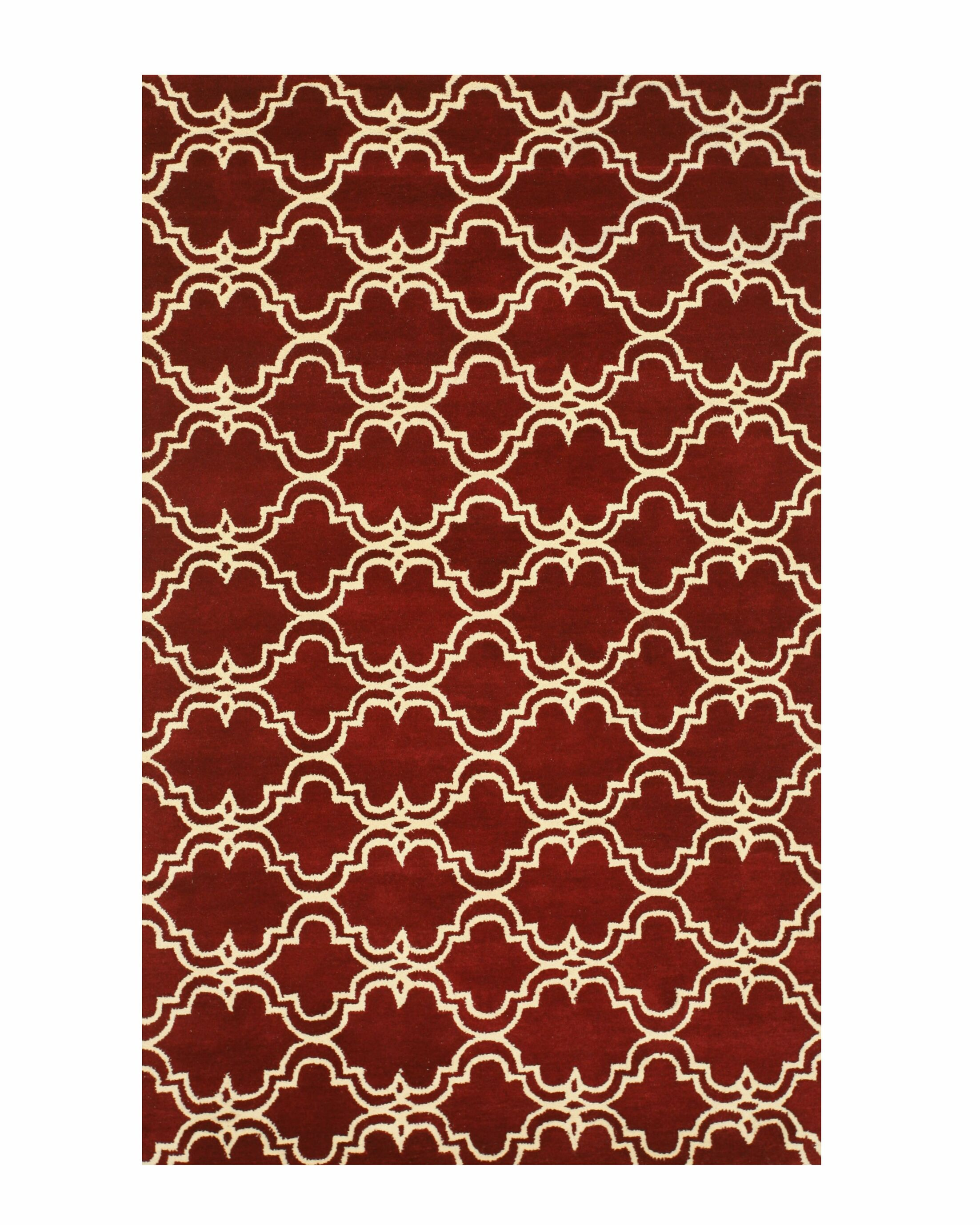 Radcliffe Hand-Tufted Wool Red Area Rug