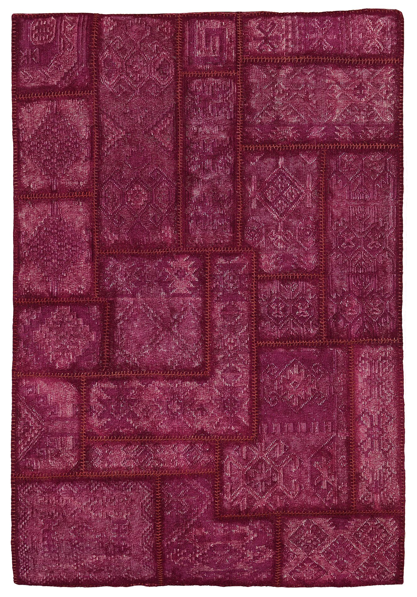 Annabelle Kilim Hand-Woven Berry Patchwork Area Rug Rug Size: 5' x 8'