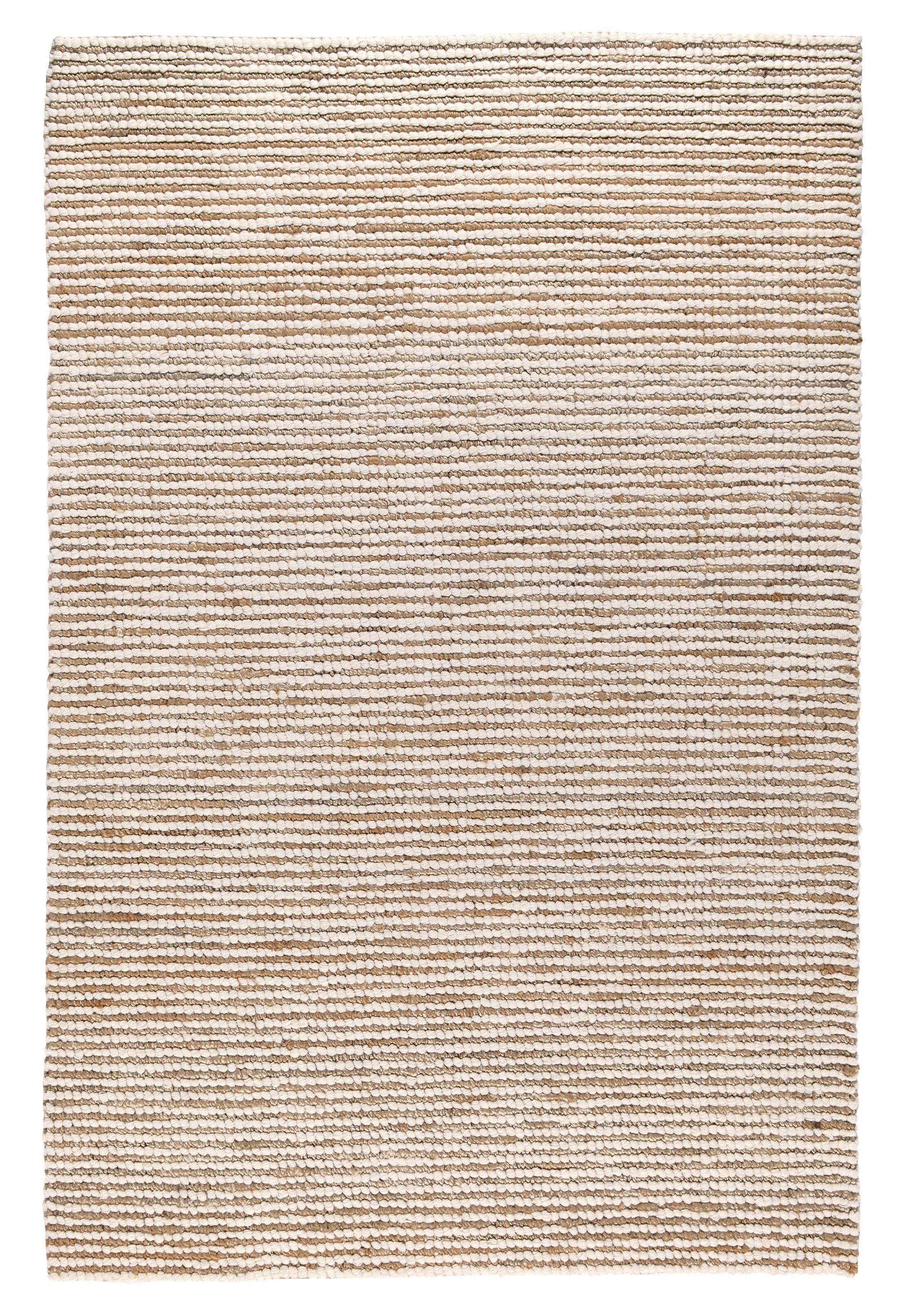 Kiti Hand-Woven Ivory/Natural Area Rug Rug Size: 5' x 8'