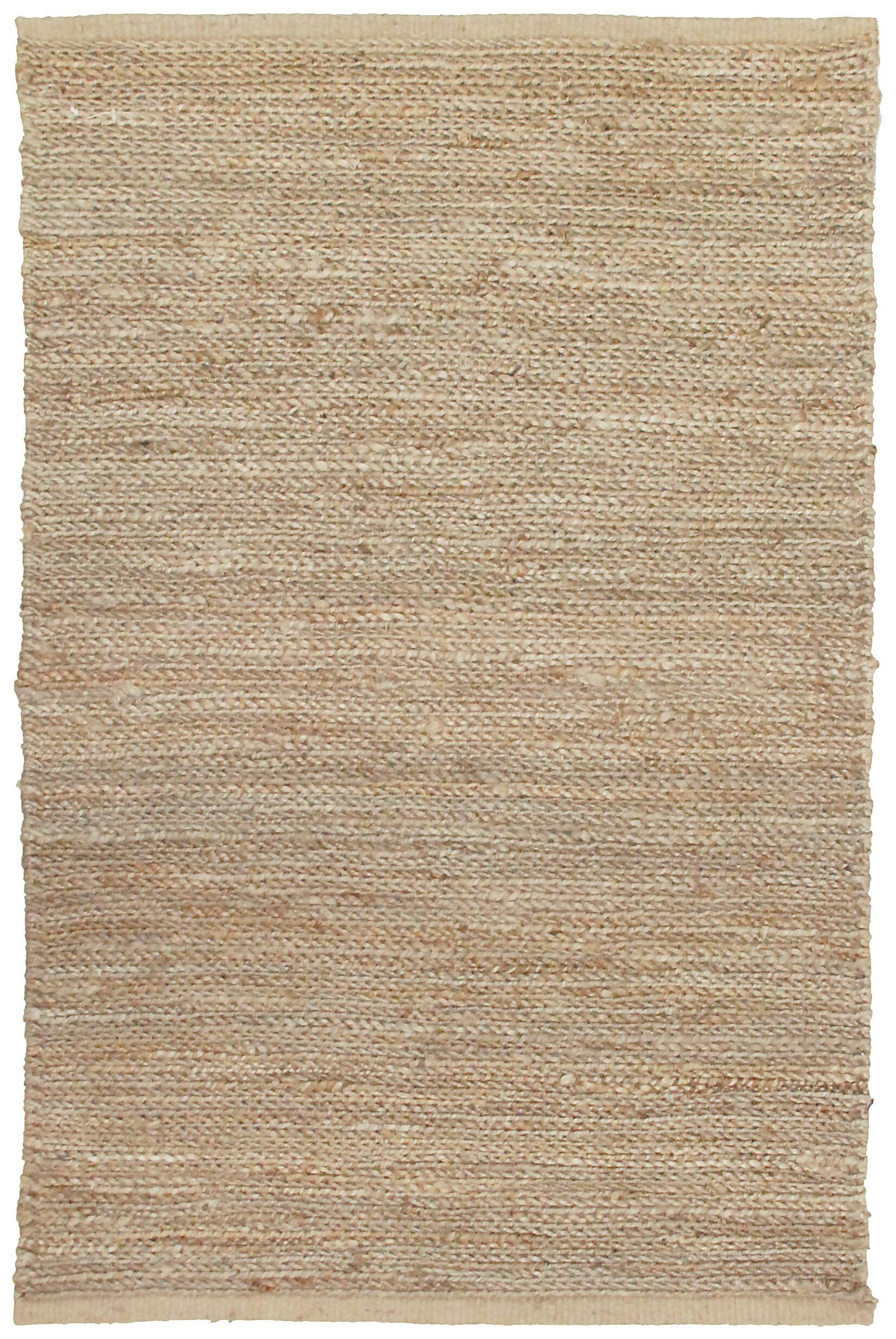 Soumakh Jute Natural Area Rug Rug Size: Rectangle 8' x 10'