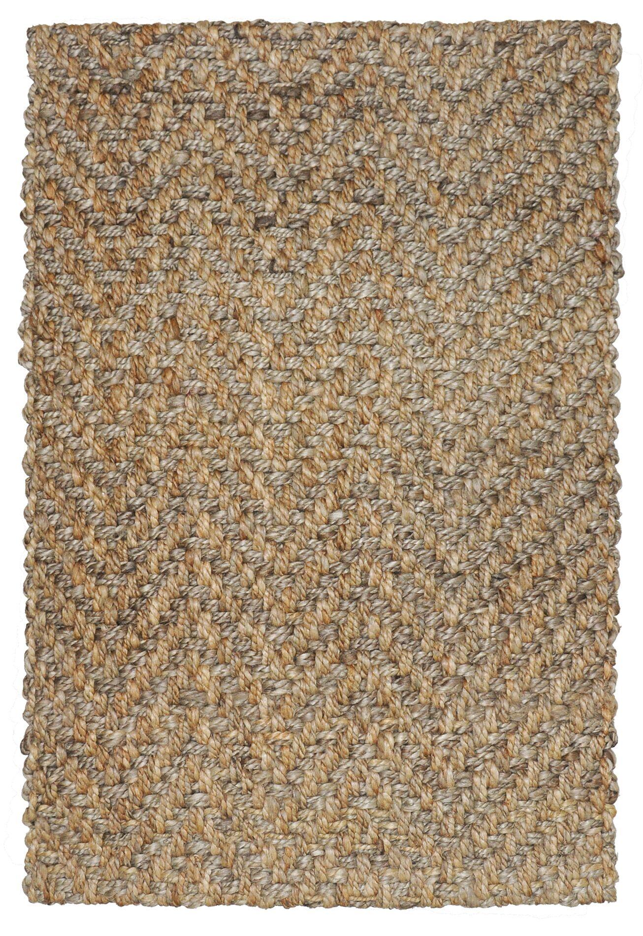 Shayla Hand-Woven Brown Area Rug Rug Size: 5' x 8'