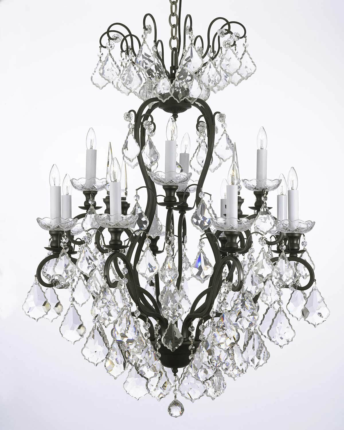 Alvan 12-Light Traditional Candle Style Chandelier