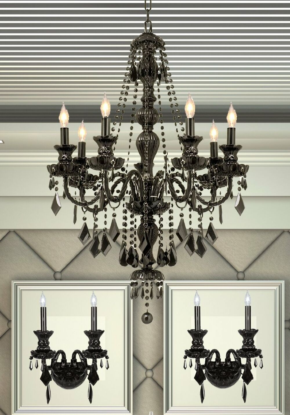 Keisler 3 Piece Candle Style Chandelier and Wall Sconce Set