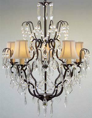 Clemence 5-Light 40W Black Shade Shaded Chandelier