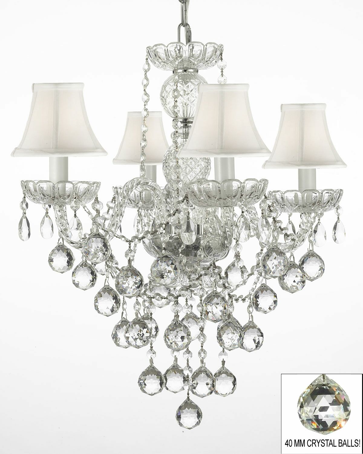 Hoffman 4-Light Shaded Chandelier