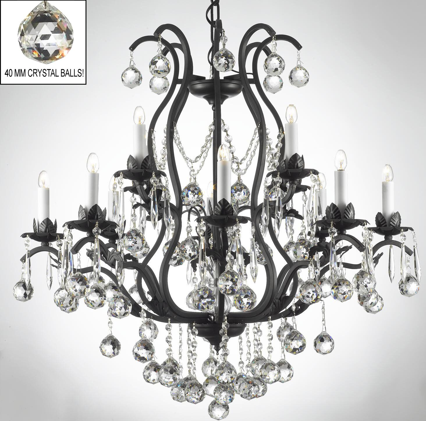 Alvan 12-Light 40W Candle Style Chandelier