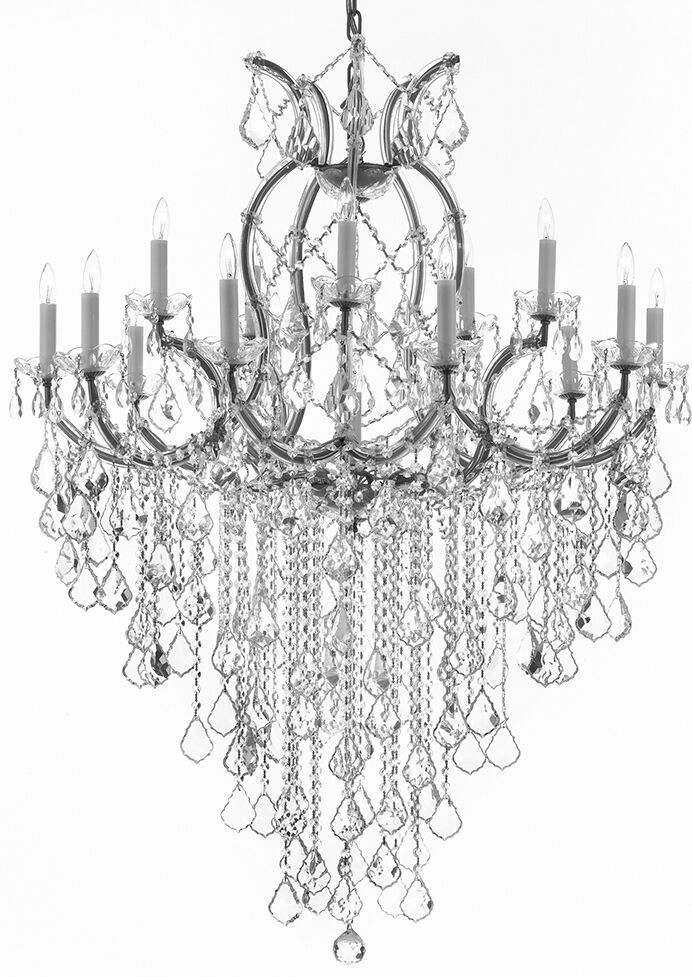 Alvarado 16-Light Chain Candle Style Chandelier Color: Silver