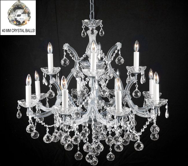 Alvarado 13-Light Silver Chain Candle Style Chandelier