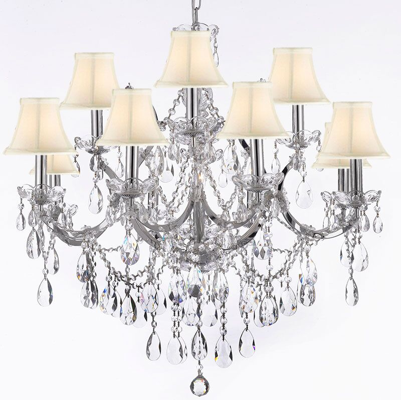 Keenum 13-Light Shaded Chandelier Shade Color: White