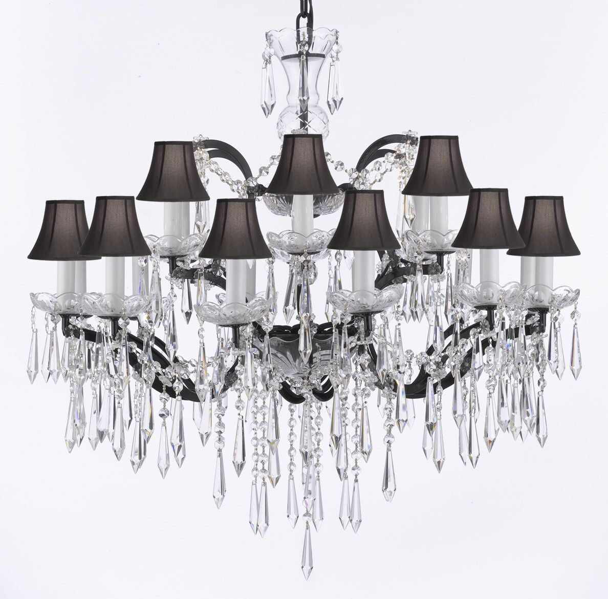 Clemence 18-Light Shaded Chandelier