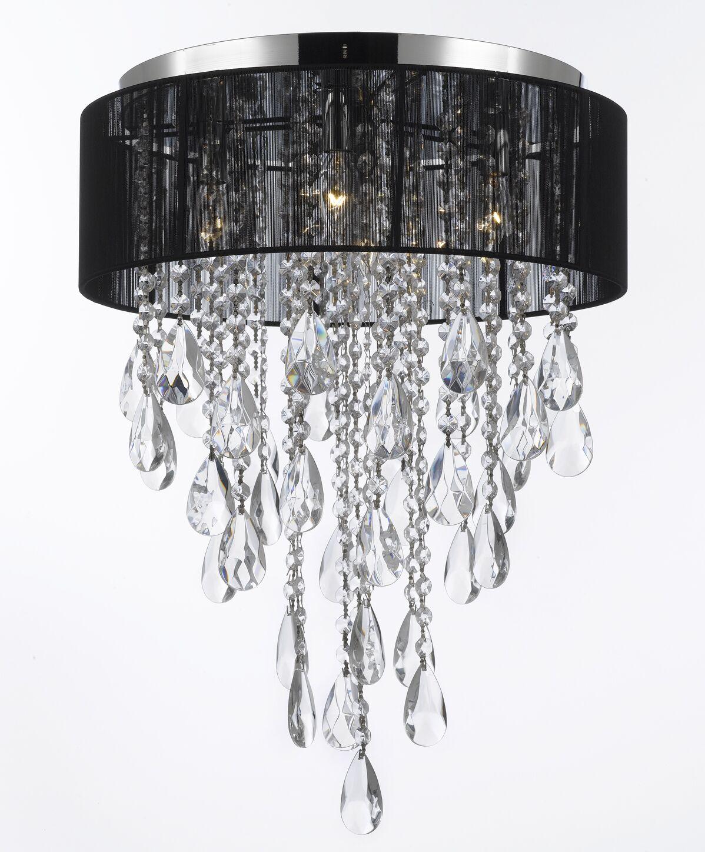 Kimura 4-Light Flush Mount Color: Black
