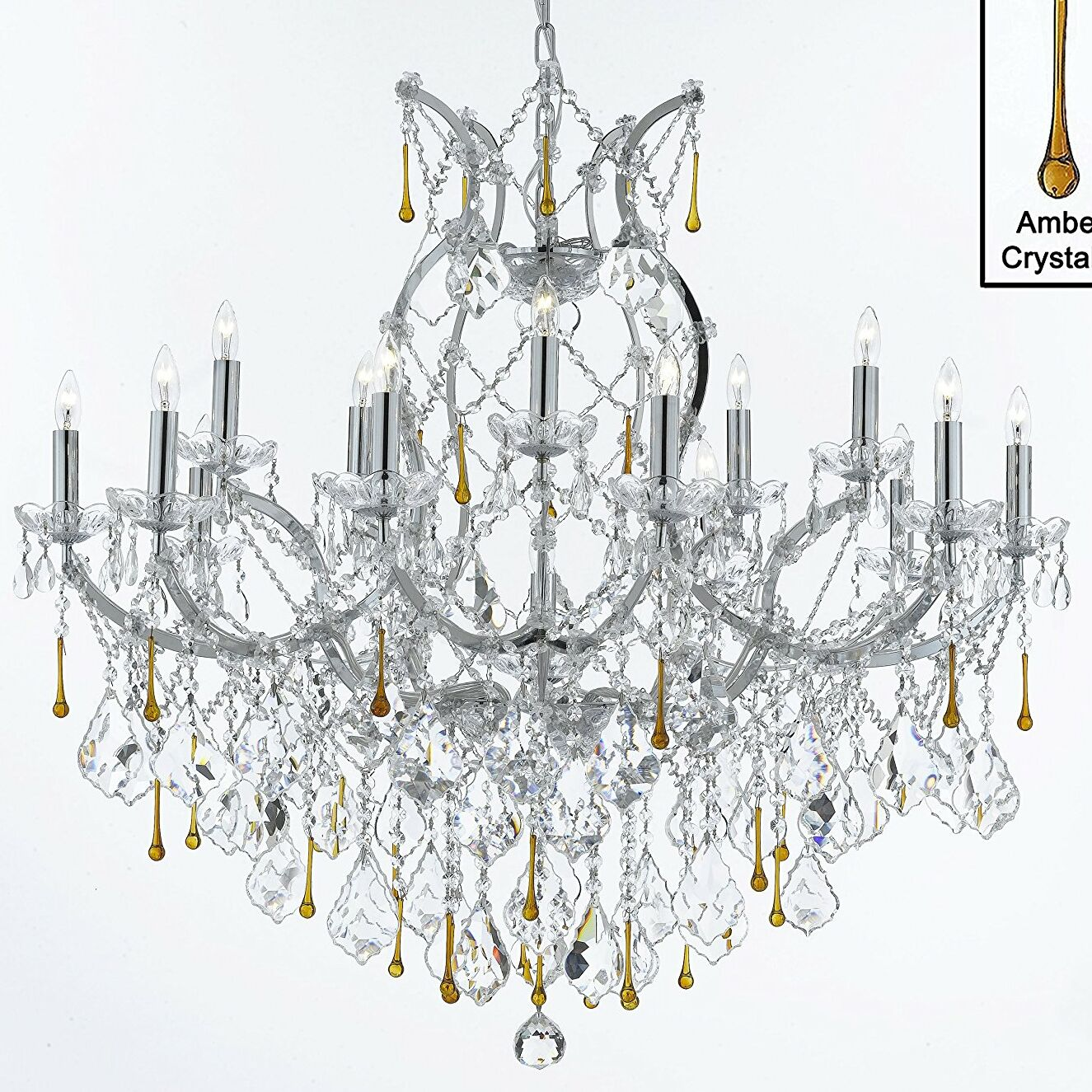 Keenum 16-Lighting Candle Style Chandelier Color: Amber