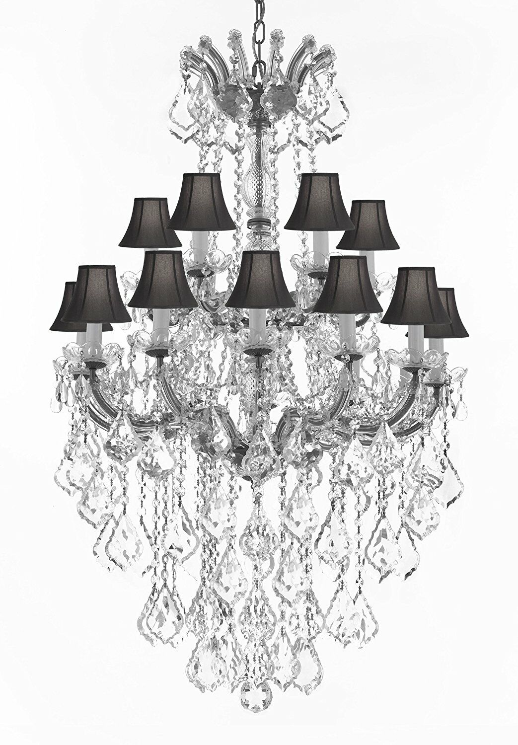 Alvarado 18-Light Traditional Spectra Shaded Chandelier Shade Color: Black, Color: Silver
