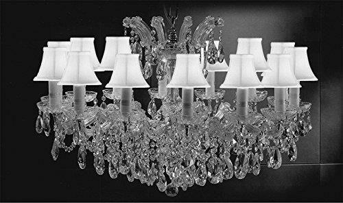 Alvarado Swarovski 14-Light Crystal Chandelier Shade Color: White