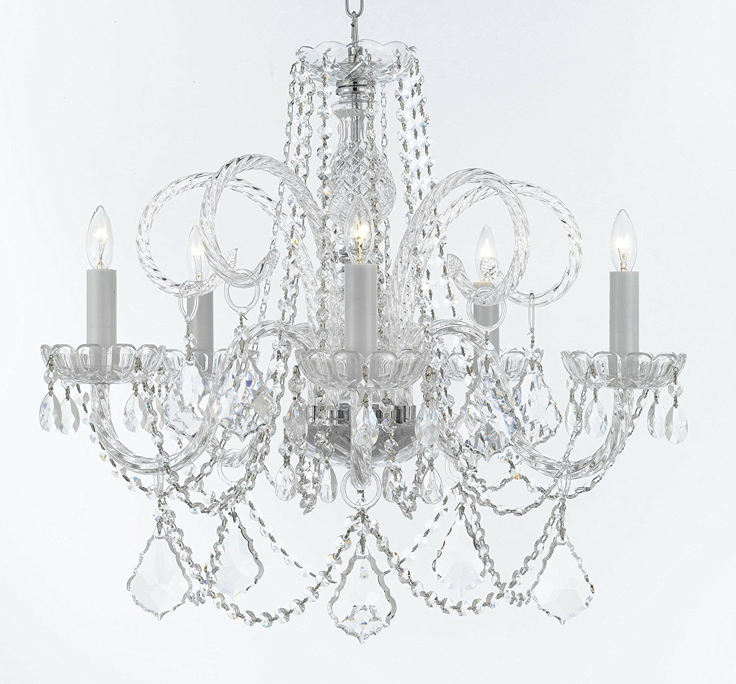 Creeves Hanging 5-Light Candle Style Chandelier
