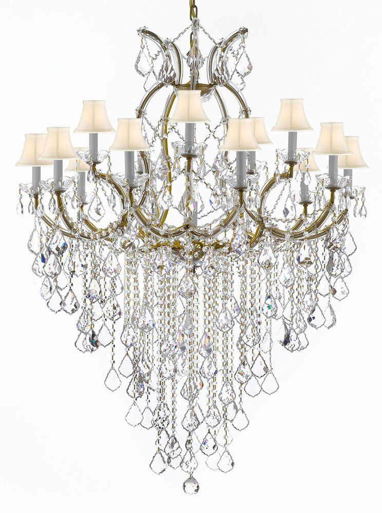 Bellefonte 16-Light Shaded Chandelier Color: Gold, Shade Color: White