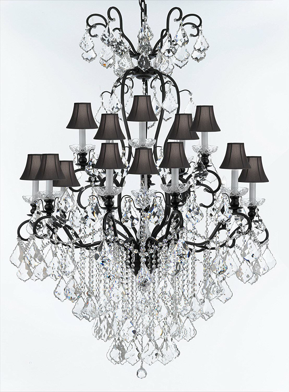 Borunda 16-Light Shaded Chandelier Shade Color: Black
