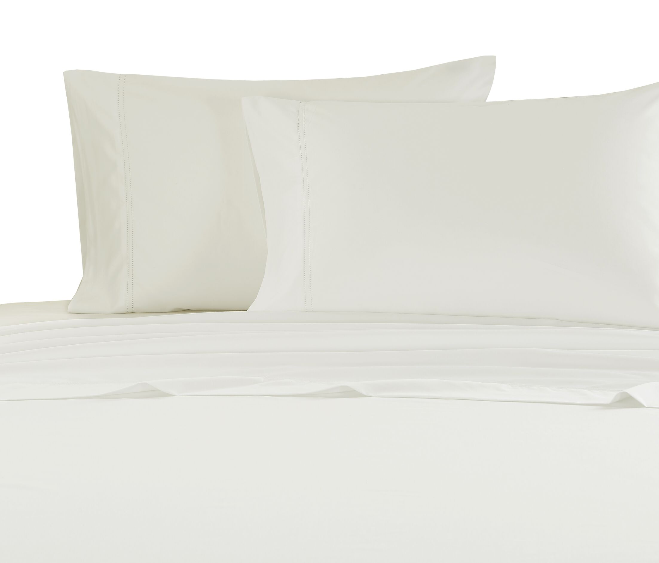 Hemstitch 1000 Thread Count Sheet Set Size: King, Color: Ivory