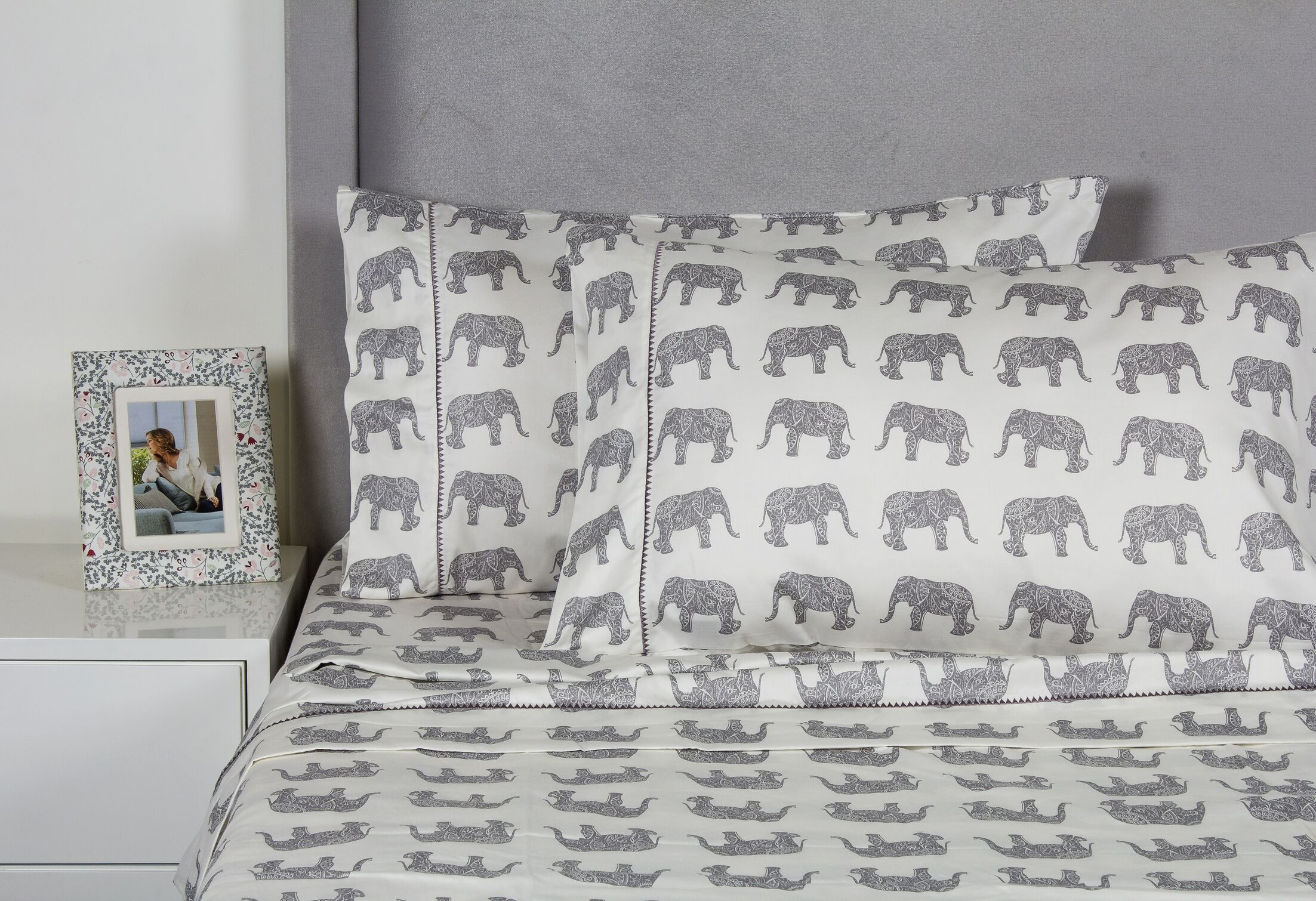 Elephant 400 Thread Count 100% Cotton Sheet Set Size: King, Color: Gray