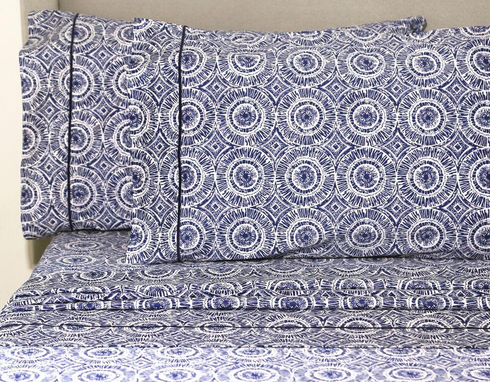 Casarez 400 Thread Count 100% Cotton Sheet Set Size: California King, Color: Navy