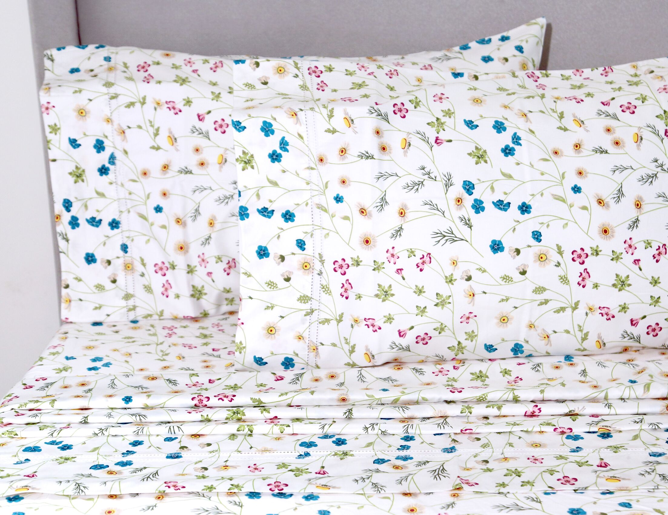 Chapa Wildflower 400 Thread Count 100% Cotton Sheet Set Size: King